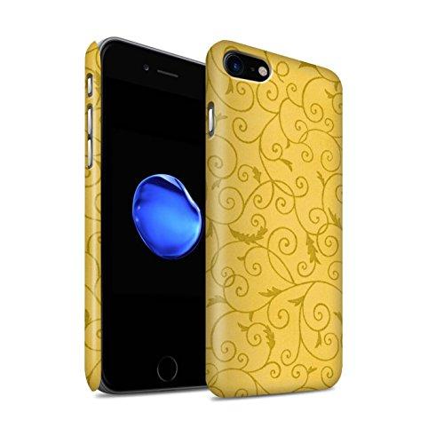 STUFF4 Matte Snap-On Hülle / Case für Apple iPhone 8 / Türkis Muster / Vine Blumenmuster Kollektion Gelb