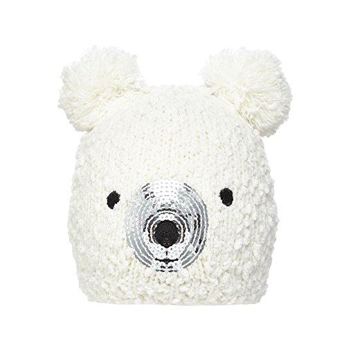 bluezoo-kids-childrens-cream-polar-bear-beanie-age-7-10