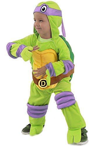 3 Ninjas Kostüme Halloween (TMNT Teenage Mutant Ninja Turtles Donatello One-Piece Jumpsuit (Kind)