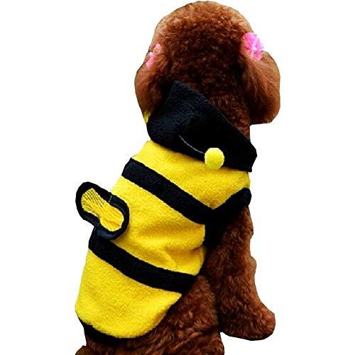 Kostüm Hunde Xl Biene - EVRYLON Bienenkostüm für Tiere Hund XL Verkleidung Halloween Cosplay Weihnachten oder Geburtstag