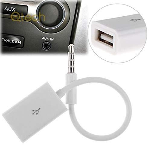hallenwerk USB-Klinke Audio Adapter Kabel 3,5mm Klinke Stecker auf USB A Stecker MP3 für Autoradio, Smartphone, USB Sticks und Weitere - Usb-mp3-kabel