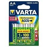 Batterie Varta type AA Mignon 1600mAh (Protection contre la décharge)