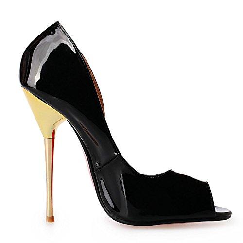 L@YC Talons Hauts Femmes PU2018 Nouvelles Chaussures Pour Femmes Talons Hauts de Couleur Dégradée black