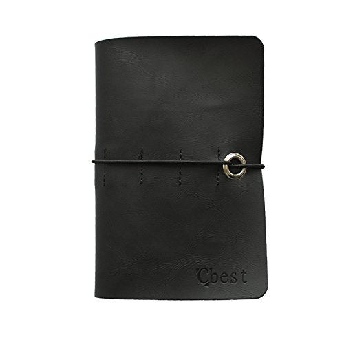 TEKON-Notizbuch Leder Vintage handarbeit für Refill Papier schwarz Notizbuch-refill-papier