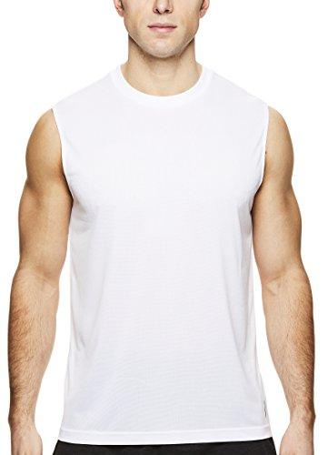 HEAD Herren Hypertek Mesh Gym Training & Workout Muscle Tank - ärmelloses Active Wear Top - Weiß - Mittel -