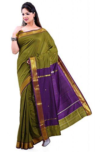ISHIN Poly silk Paithani Green Saree-STCS-23  available at amazon for Rs.799