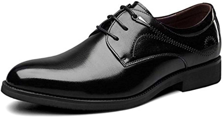 MUYII Oxfords Kleid Lederschuhe Für Männer Lace up Plain Toe Formelle Business Herren Lederschuhe