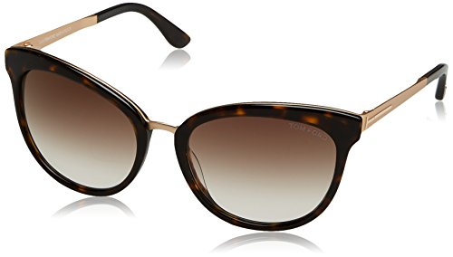 Tom ford ft0461 met 52g (56 mm), montature donna, avana scura with brown specchiato, 56