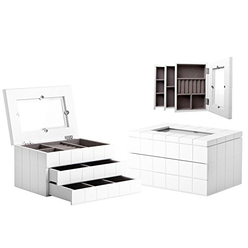 Lola Derek - Caja joyero moderna blanca madera dormitorio