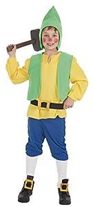 Creaciones Llopis - Disfraz de enanito para niños de 5/7 años, color amarillo, talla S