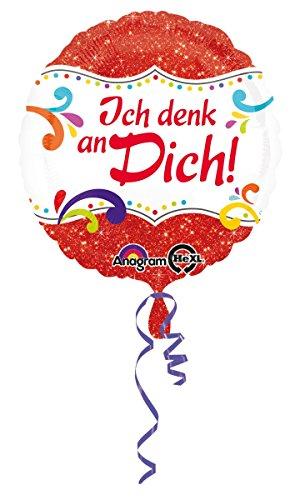 Geburtstag Helium nicht mit Ballongas gefüllt, leer Ich denk an Dich Liebe Sehnsucht 45cm