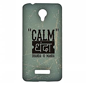 RANGSTER Calm Dhanda-Ophis Ophis Matte Finish Mobile Case For Micromax Canvas Spark (Q380)-Blue