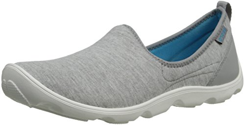 Crocs - - Duo de femmes Busy Day Heather Skimmer Light Grey/White