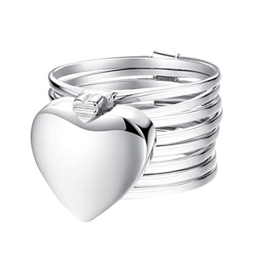 keerads Roll-Ring Armband Sterling Silber Love Herz Ring Falz Jewelry, silber (Big-band-ohrringe Silber Sterling)