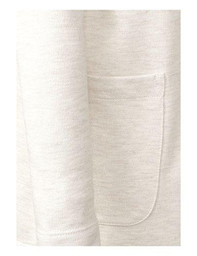 Street One, Gilet Femme Beige (Creamy White Melange 11158)