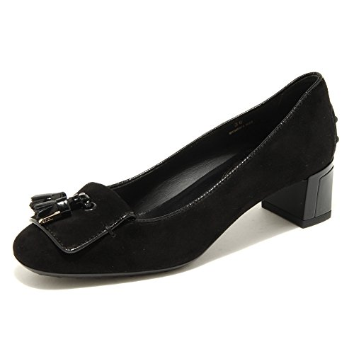 decollete TODS ballerina scarpa donna shoes women 30714 Nero