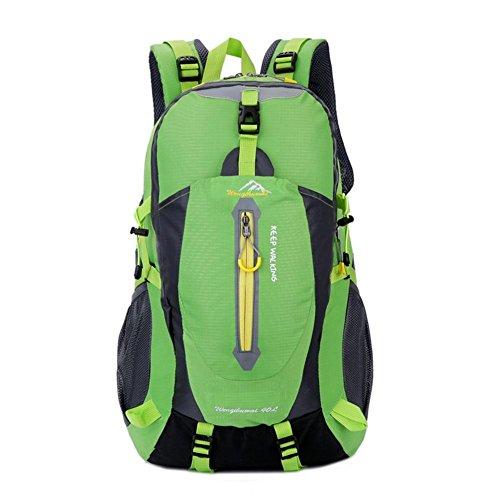 40L Im Freien Neutrale Rucksack Bergsteigen Tasche Wasserdicht Auf Fuß Camping green