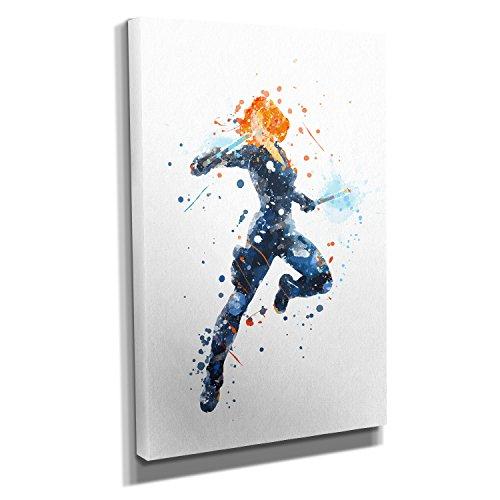Nerdinger Widow Splash - Kunstdruck auf Leinwand (20x30 cm) zum Verschönern Ihrer Wohnung. Verschiedene Formate auf Echtholzrahmen. Höchste Qualität.