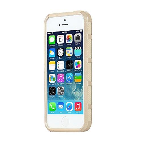 iPhone 5s Custodia, iPhone 5 Custodia, MTRONX™ Elegante Antiurto Ibrida Duro Morbido TPU Bumper Custodia Case Cover Protezione per Apple iPhone 5, iPhone 5s - Oro Rosa/Oro Rosa (HC_RGRG) Oro & Oro