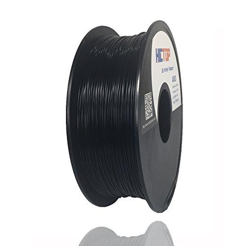 HICTOP Imprimante 3D 1.75mm ABS Filament - 1 kg bobine (2,2 lb) - Précision dimensionnelle +/- 0,05 mm (Noir)