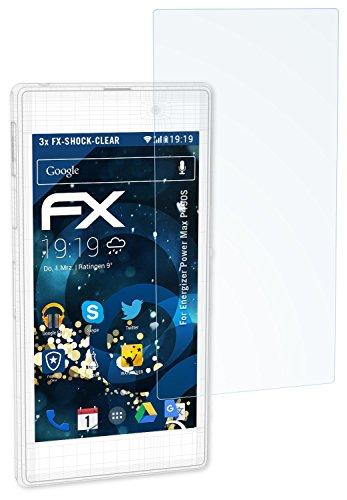 atFolix Schutzfolie kompatibel mit Energizer Power Max P490S Panzerfolie, ultraklare & stoßdämpfende FX Folie (3X)