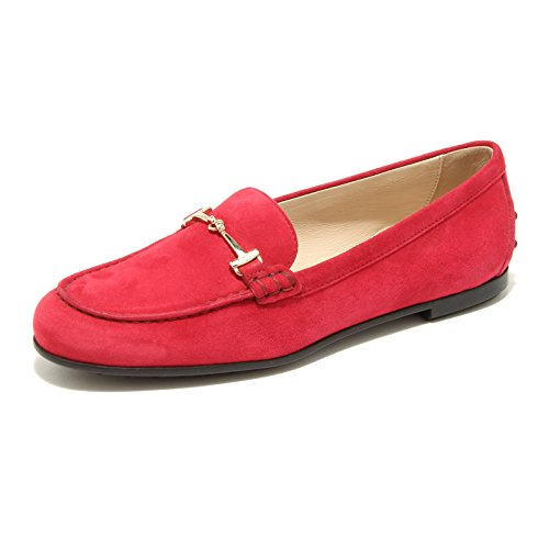 96493 mocassino TOD'S MOC GOMMA scarpa donna loafer shoes women Rosso