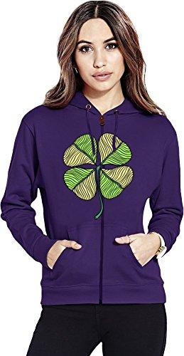 Clover Womens Zipper Hoodie X-Large Irish Womens Zip Hoodie