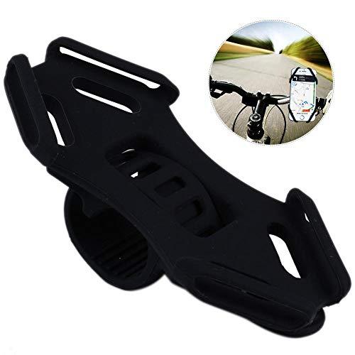 PER Silikon Kinderwagen Handy-Halter mit verstellbarem Gurt Universal Fit für iPhone, Samsung Galaxy auch für Bike Shopping Cart-Black -