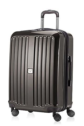 HAUPTSTADTKOFFER - X-Berg - Hartschalenkoffer Koffer Trolley Rollkoffer, 65 cm, 90 Liter, TSA, Graphit Glanz