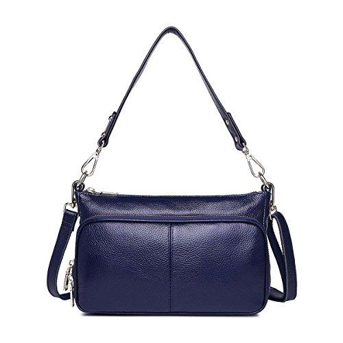 Weibliche kleine quadratische tasche handtasche Schulter messenger bag kleine paket Von rinder einfache freizeit-paket Königsblau