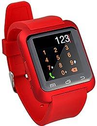 Smartwatch,Culater Smart Bluetooth muñeca Inteligente Reloj sana podómetro Monitor de sueño Alarma Calendario llamada con la Pantalla Táctil Android,Samsung,HTC, Sony, Huawei(Rojo)