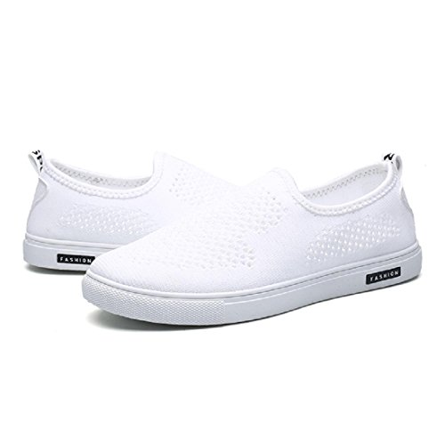 Herren Lässige Schuhe Atmungsaktiv Tuchschuhe Flache Schuhe Sandalen White