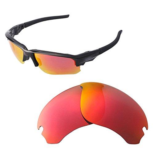 Walleva Ersatzgläser für Oakley Flak Draft Sonnenbrille - Verschiedene Optionen erhältlich, Unisex-Erwachsene, Fire Red Mirror Coated - ISARC Polarized, Einheitsgröße
