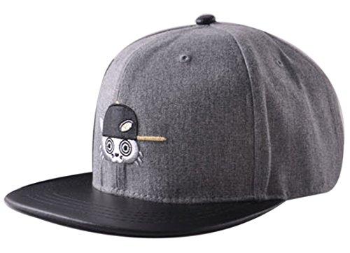 Belsen Kind Hip-Hop kleine Katze Cap Baseball Kappe Hut Truckers Hat (Kind, grau)
