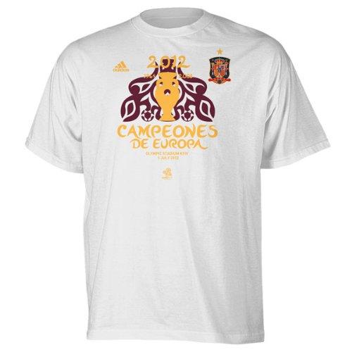 adidas Spanien Fußball weiß Fußball UEFA Euro 2012Champions T-Shirt S