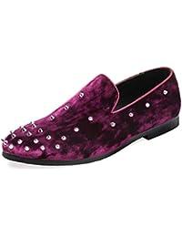 Suede Primavera Zapatos Casuales Moda Zapatos Puntiagudos Zapatos De Los Hombres Remaches Personalizados Guisantes Zapatos Mocasines