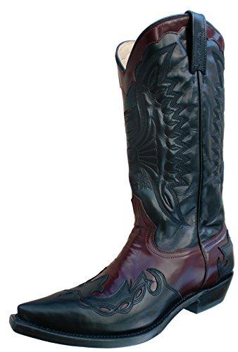 Mezcalero , Bottes et bottines cowboy mixte adulte - Noir/rouge