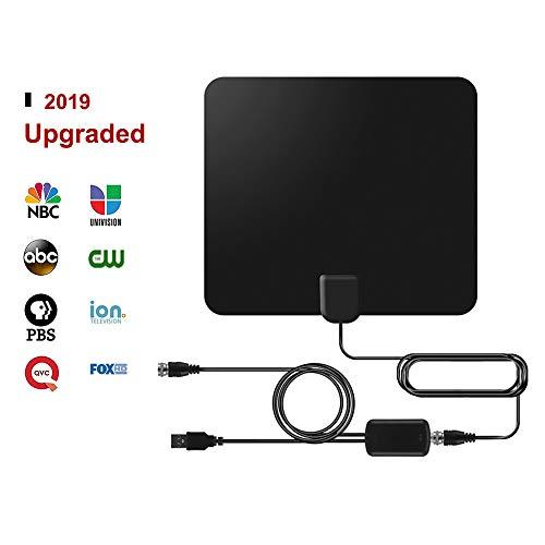Digitale HDTV-Antenne (2020 Frühauslösung), 50 bis 80 km verstärkte Reichweite, 1080p & 4K UHD-TV-kompatibel, 3,8 m Kabel Skylink-receiver