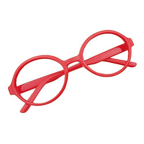 Baby Runder Gläser Rahmen - Kleinkind Säugling Kinder Brillen Geek / Nerd Retro Reading Eyewear Keine Objektive für Mädchen Jungen - (Kostüme Kleinkind Geek)