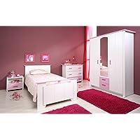 "Parisot Kinderzimmer-Set 4-tlg ""Biotiful 12"" Rosa-Weiß preisvergleich bei kinderzimmerdekopreise.eu"