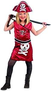 Limit Sport - Disfraz de pirata Johanna para niña, color rojo (MI794)