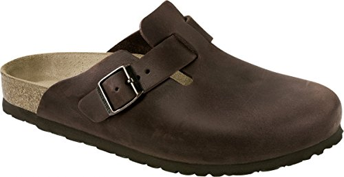 Birkenstock Boston, Zoccoli unisex adulto Marrone