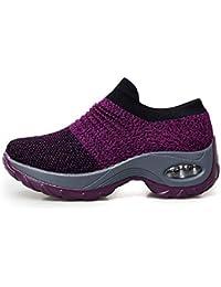 tqgold® Sneakers Zeppa Interna Donna Scarpe da Ginnastica Sportive Fitness Basse  Scarpe 4.5CM bfddb988a30