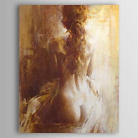 WSS dipinto a mano olio su tela con cornice persone Stretched 24