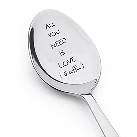 tout ce dont vous avez besoin est Amour et cuillère à café–Préfet Idée de cadeau pour les amateurs de café–Cuillère Cadeau