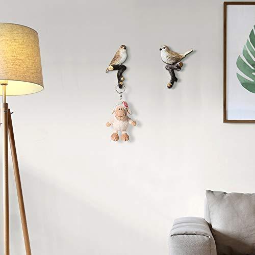 Joeesun Tür hängen Schlüsselrahmen Nordic Wand Persönlichkeit kreative Schlafzimmer Vogel Kleiderbügel Wandbehang Veranda Wanddekoration Haken GG-8961 Acura CD -