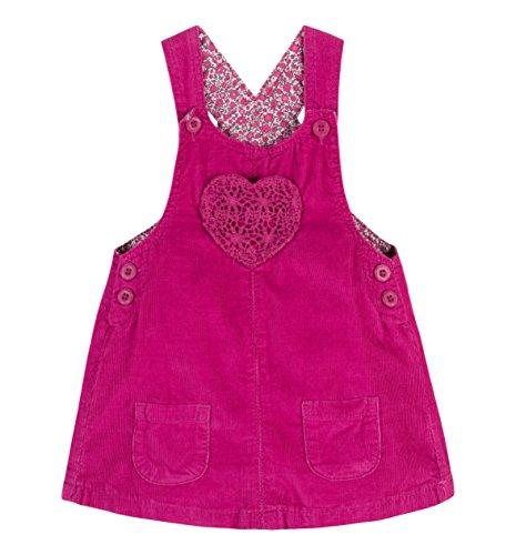 C&A Baby Mädchen Kleid Latzkleid Kord Baumwolle pink Größe (Kleid 80)
