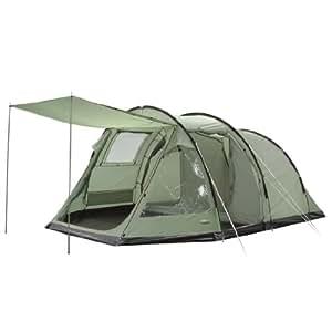 High Peak Pretoria 4 - 12192-0 - Tente tunnel familiale de camping - 5 personnes - olive clair