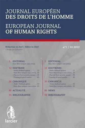 Journal Europeen des Droits de l'Homme / European Journal of Human Rights 2013