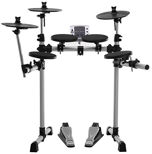 XDrum DD-400 E-Drum Set (Komplettes Schlagzeug, 4 Drum Pads, 3 Cymbal Pads, Sound Modul mit 180 Sounds, 10 Preset Kits, 40 Preset Songs, USB, MIDI) - Dram-modul